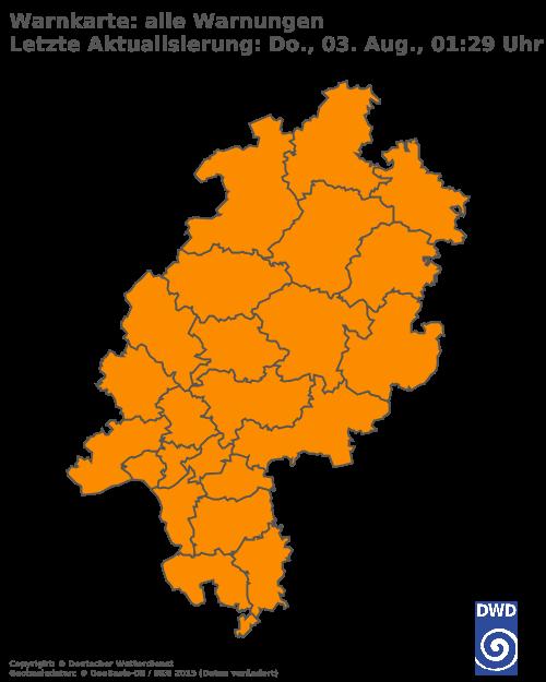 Aktuelle Wetterwarnungen für Offenbach